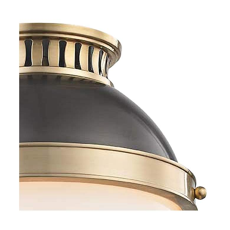 "Latham 9 1/2"" Wide Aged and Distressed Bronze Ceiling Light more views"