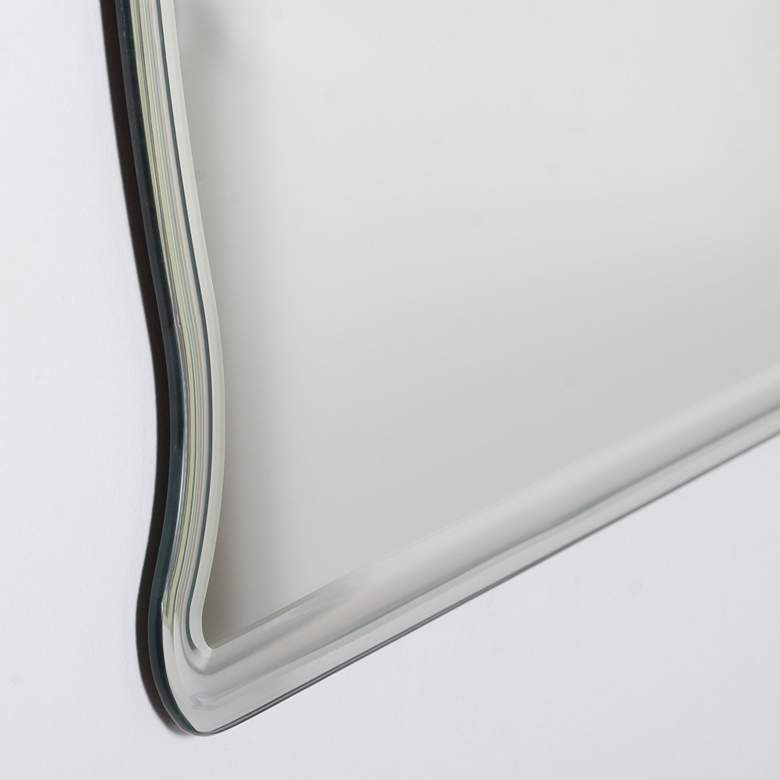 "Frameless 39 1/2"" x 31 1/2"" Oversized Wall Mirror more views"