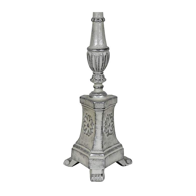 Crestview Collection Robbins Gray Pedestal Buffet Table Lamp more views
