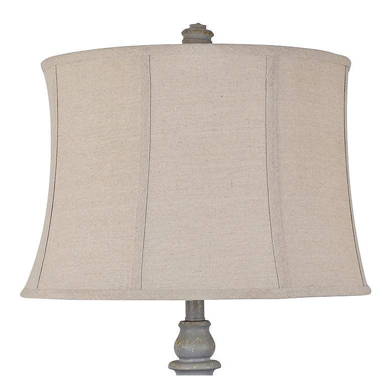 Crestview Collection Drew Gray Wood Urn Table Lamps Set of 2 more views