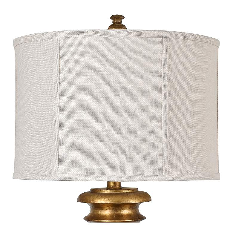 Crestview Collection Oliver Gold Leaf Pedestal Table Lamp more views