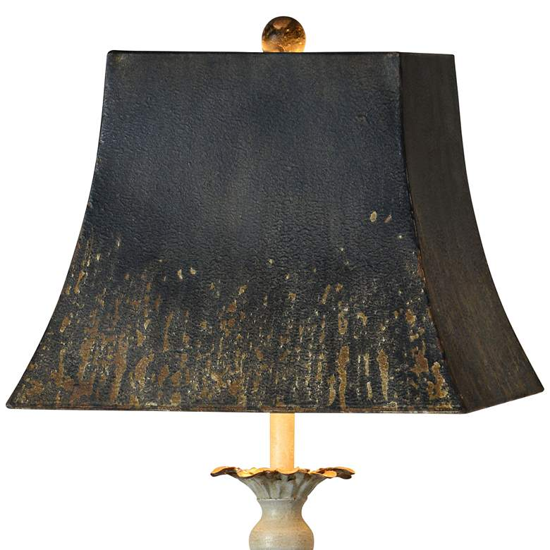 Forty West Sybil Antique Gray Buffet Table Lamp more views