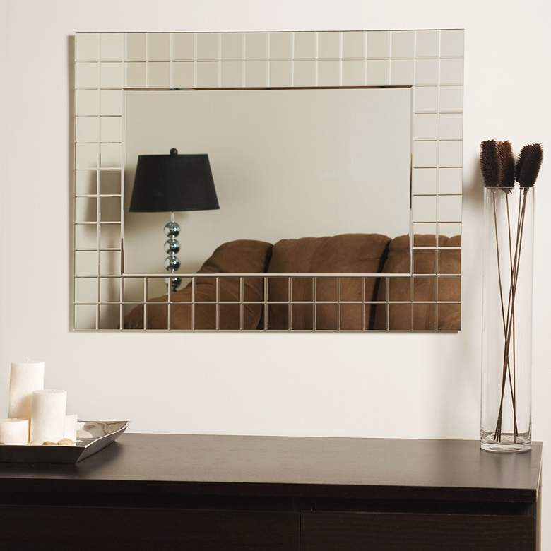 "Mischa 23 1/2"" x 31 1/2"" Rectangular Frameless Wall Mirror more views"