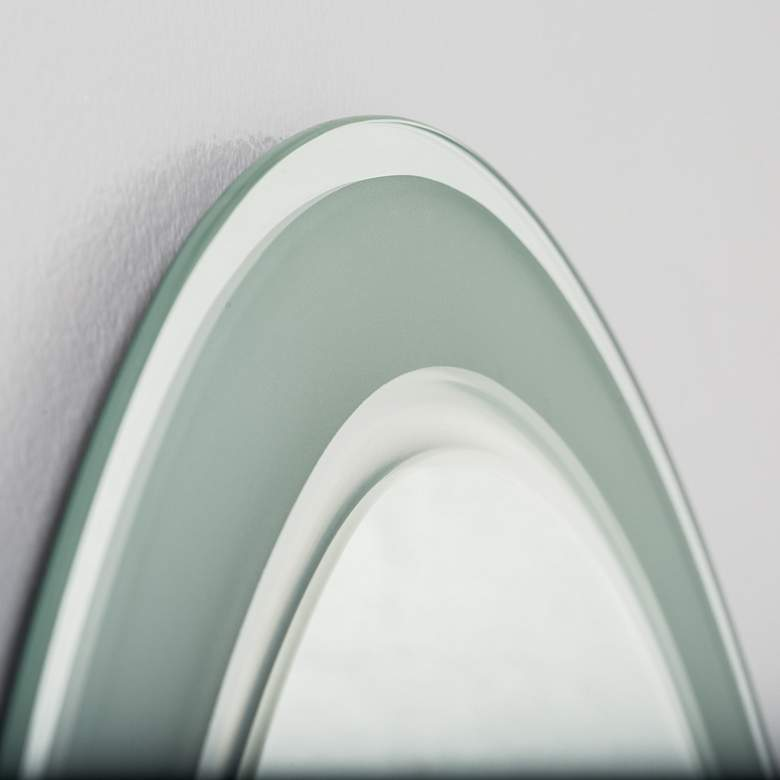 "Alden 23 1/2"" x 31 1/2"" Oval Frameless Bathroom Wall Mirror more views"