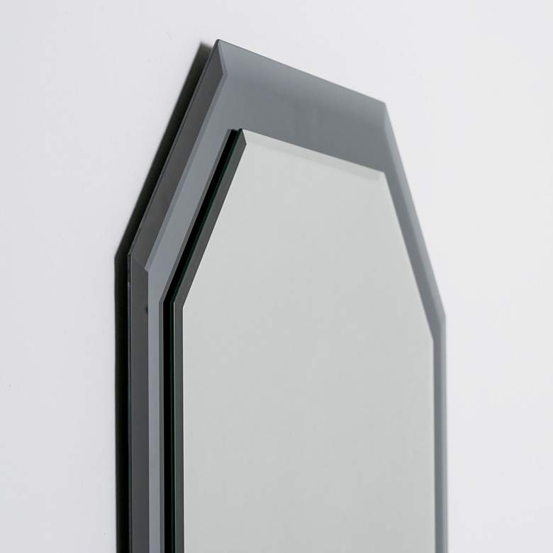 "Grella Gray 23 1/2"" x 31 1/2"" Octagon Frameless Wall Mirror more views"