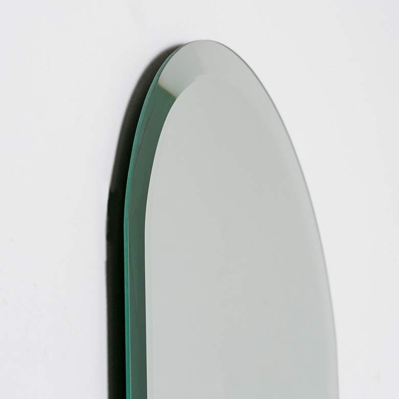 "Addy Long 13 3/4"" x 39 1/2"" Oval Frameless Wall Mirror more views"
