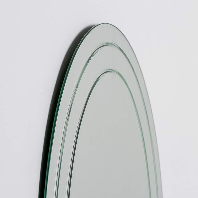 "Tate 23 1/2"" x 31 1/2"" Oval Frameless Wall Mirror more views"