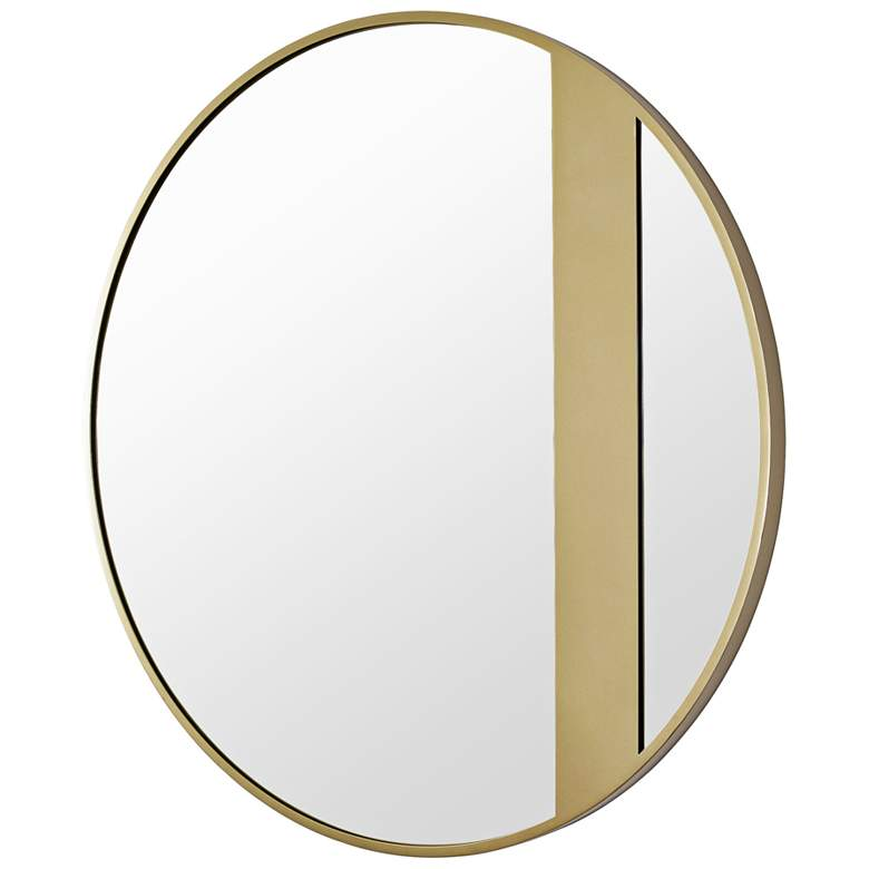 "Varaluz Casa Cadet Gold 30"" Round Wall Mirror more views"