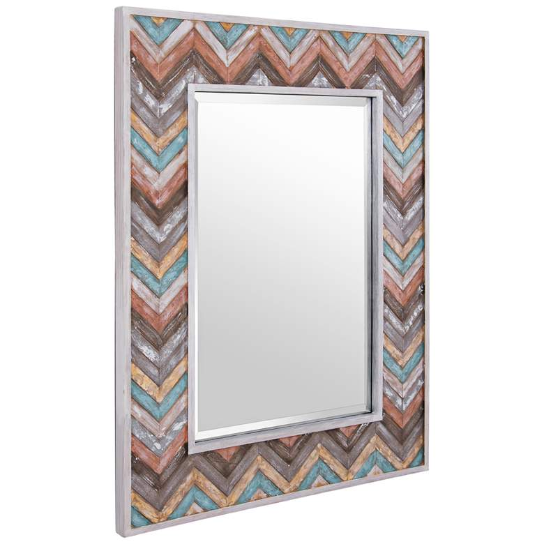 "Varaluz Casa Jemma Pastel Chevron 30"" x 40"" Wall Mirror more views"