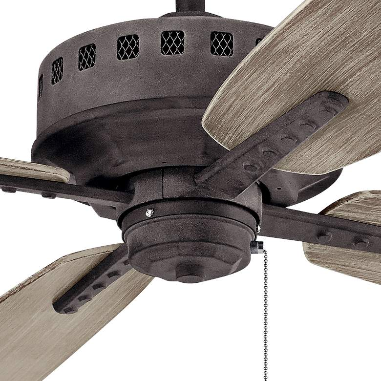 "65"" Kichler Eads Patio XL Weathered Zinc Outdoor Ceiling Fan more views"