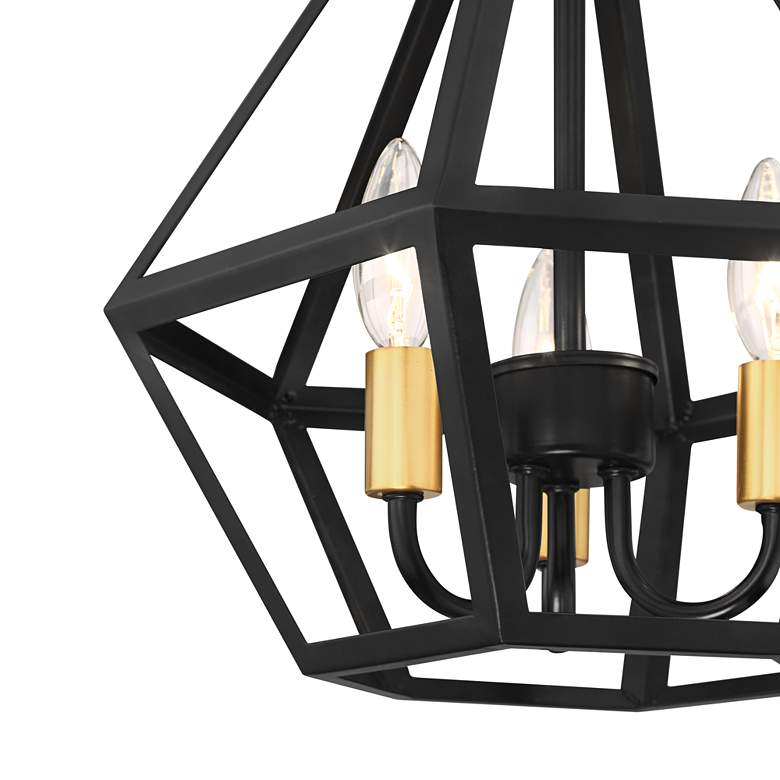 "Possini Euro Novato 13""W Geometric Black Ceiling Light more views"