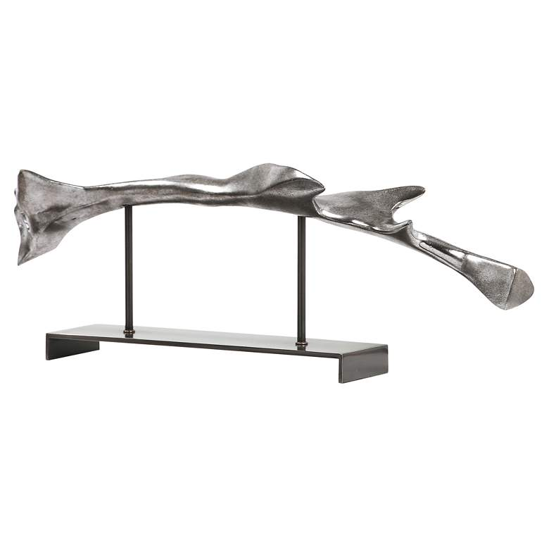 "Prabal 24 3/4"" Wide Silver Abstract Modern Sculpture more views"