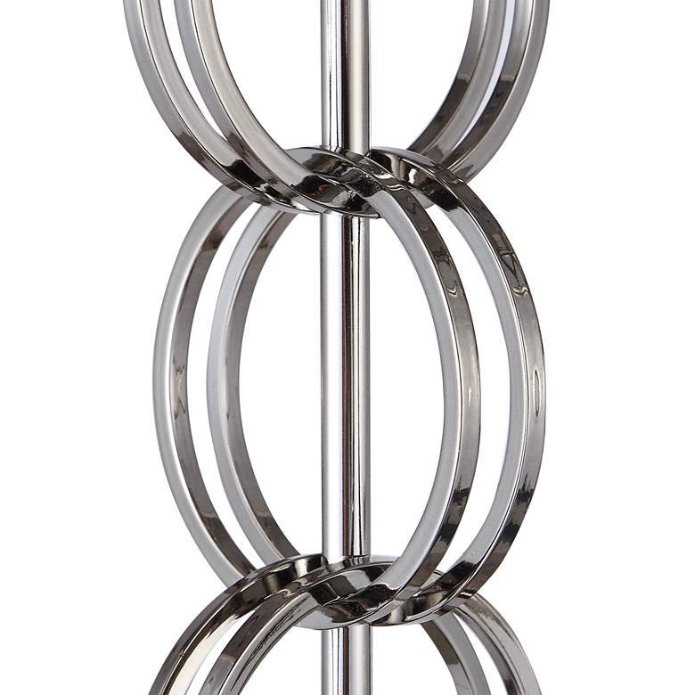 Esme Nickel Stacked Ring Pillar Candle Holders Set of 2 more views