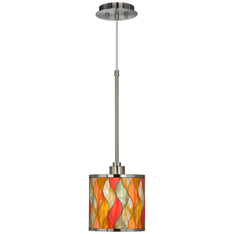 Flame Mosaic Giclee Glow Mini Pendant Light more views