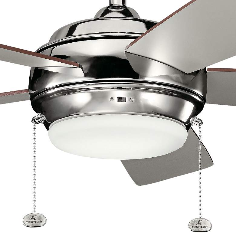 "52"" Kichler Starkk Polished Nickel LED Ceiling Fan more views"