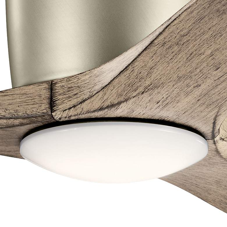 "48"" Kichler Volos Brushed Nickel Hugger LED Ceiling Fan more views"