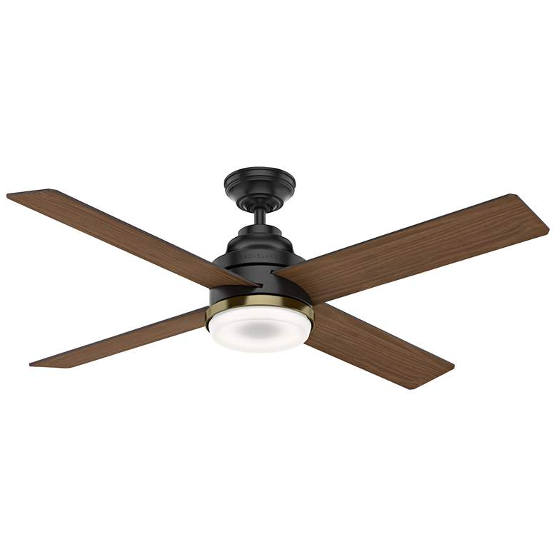 "54"" Casablanca Daphne Matte Black LED Ceiling Fan more views"