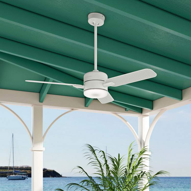 "54"" Casablanca Paume Fresh White LED Outdoor Ceiling Fan more views"
