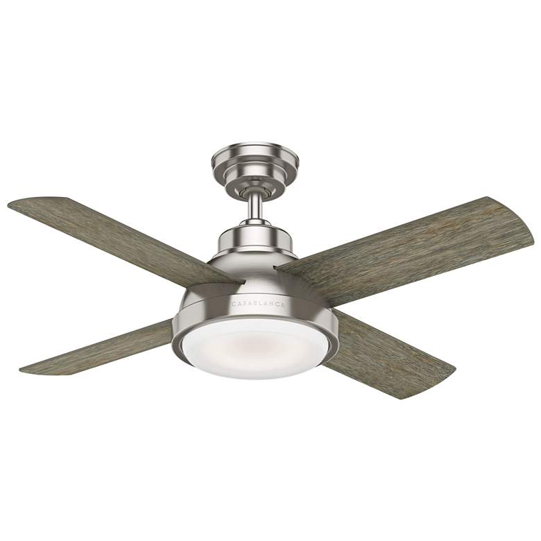 "44"" Casablanca Levitt Brushed Nickel LED Ceiling Fan more views"