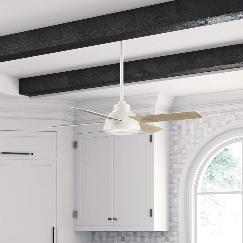"54"" Casablanca Levitt Fresh White LED Ceiling Fan more views"