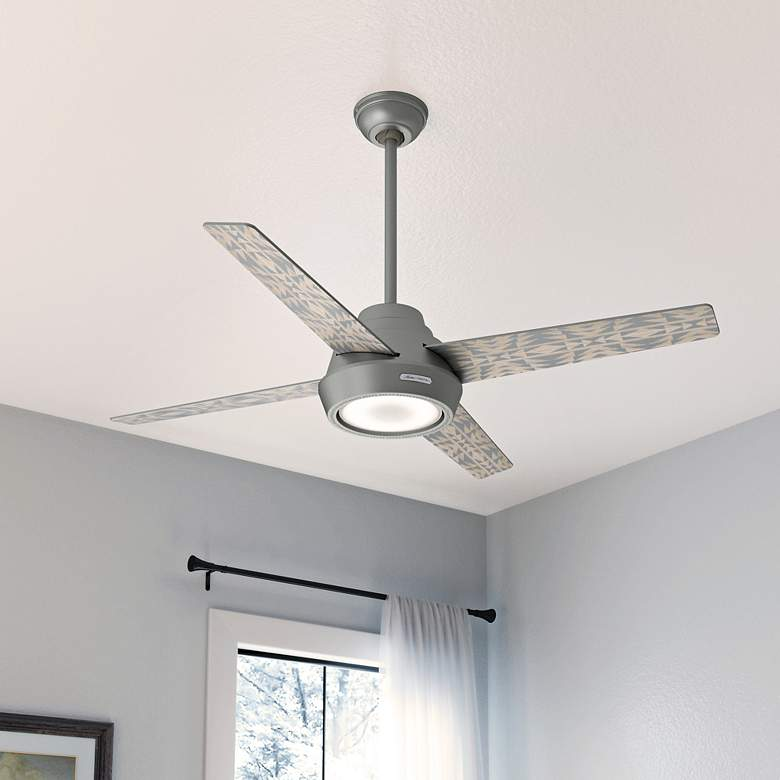 "54"" Hunter Pendleton Matte Silver LED Ceiling Fan more views"