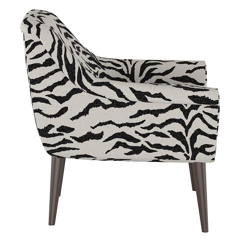 Zoey Linen Zebra Cream and Black Armchair more views