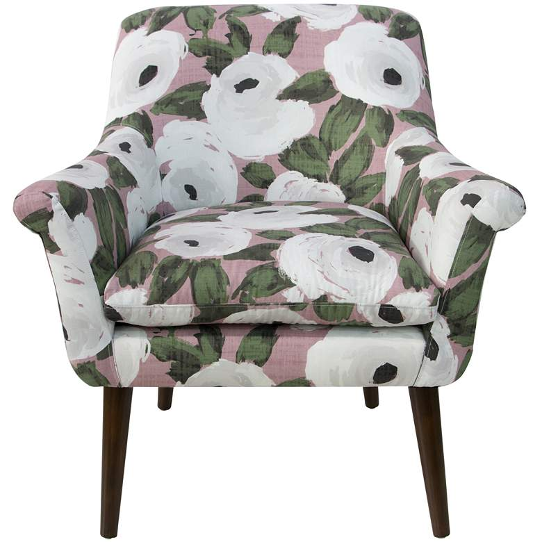 Zoey Bloomsbury Rose Blush Ivy Armchair more views