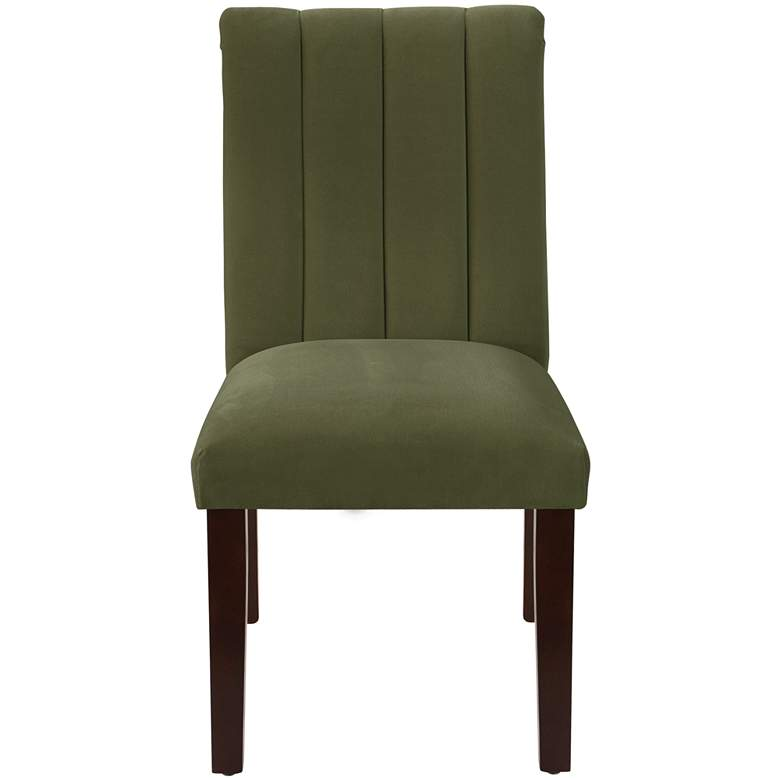 Vesta Regal Moss Channel Seam Armless Dining Chair more views