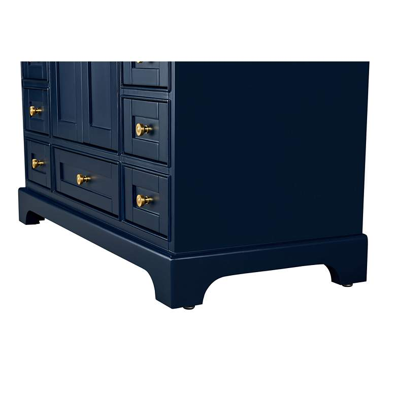 "Audrey 48""W Heritage Blue White Marble Single Sink Vanity more views"