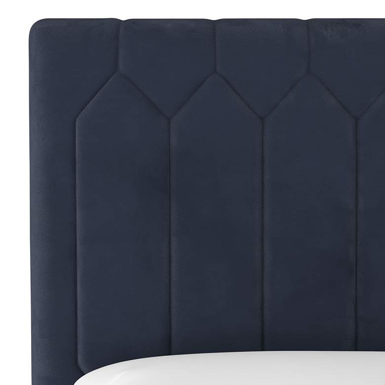 Monterra Velvet Ink Fabric Upholstered Full Headboard more views