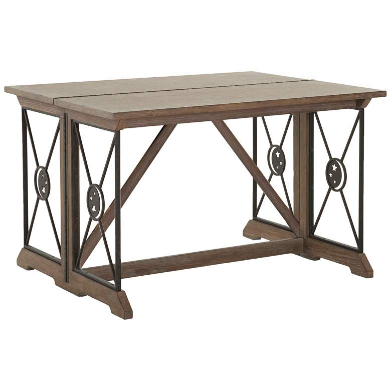 "Elysium 48"" Wide Natural Beige Adjustable Gate Sofa Table more views"