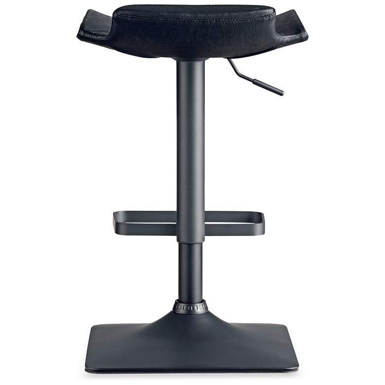 Leick Black Adjustable Height Swivel Bar Stools Set of 2 more views