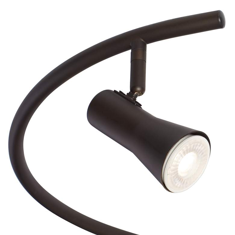 Pro Track 6 Light Bronze S-Wave LED Track Light Kit more views
