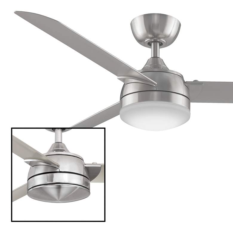 "56"" Fanimation Xeno Brushed Nickel Damp LED Ceiling Fan more views"