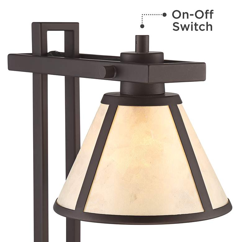 Maricopa Bronze Column Desk Lamp with USB Port and Outlet more views