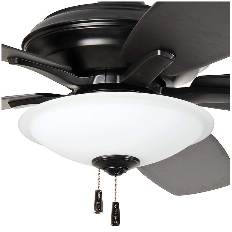 "52"" Craftmade Jamison Flat Black LED Ceiling Fan more views"