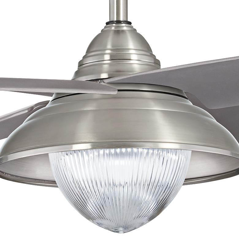 "56"" Minka Aire Shade Brushed Nickel LED Outdoor Ceiling Fan more views"