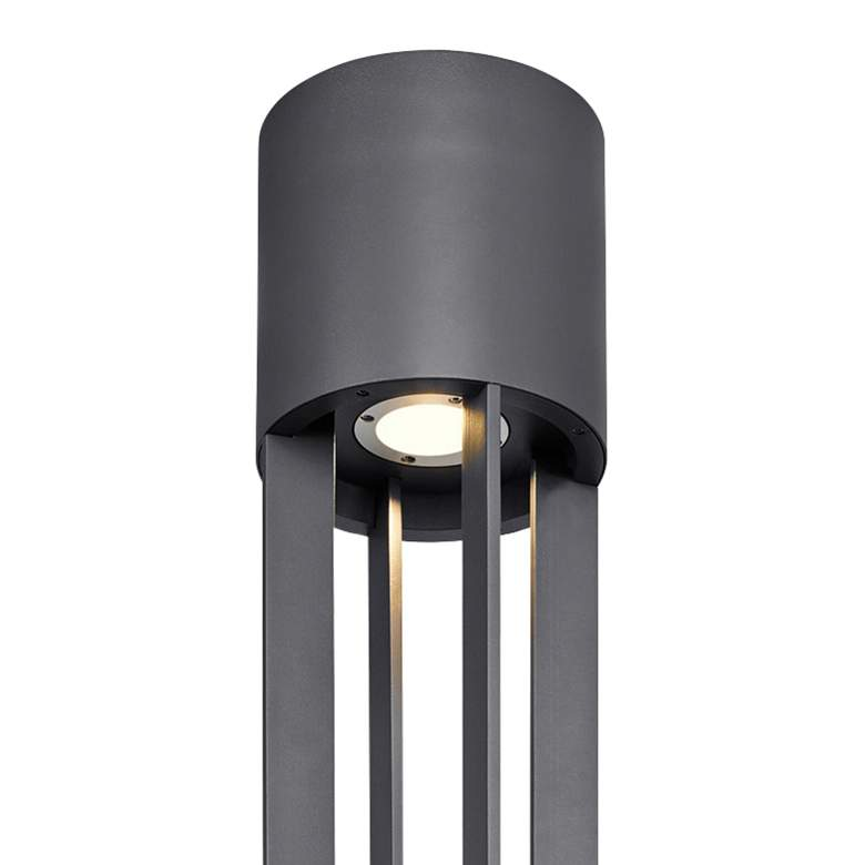 "Turbo 149 3/4"" High Charcoal LED Outdoor Column Light more views"