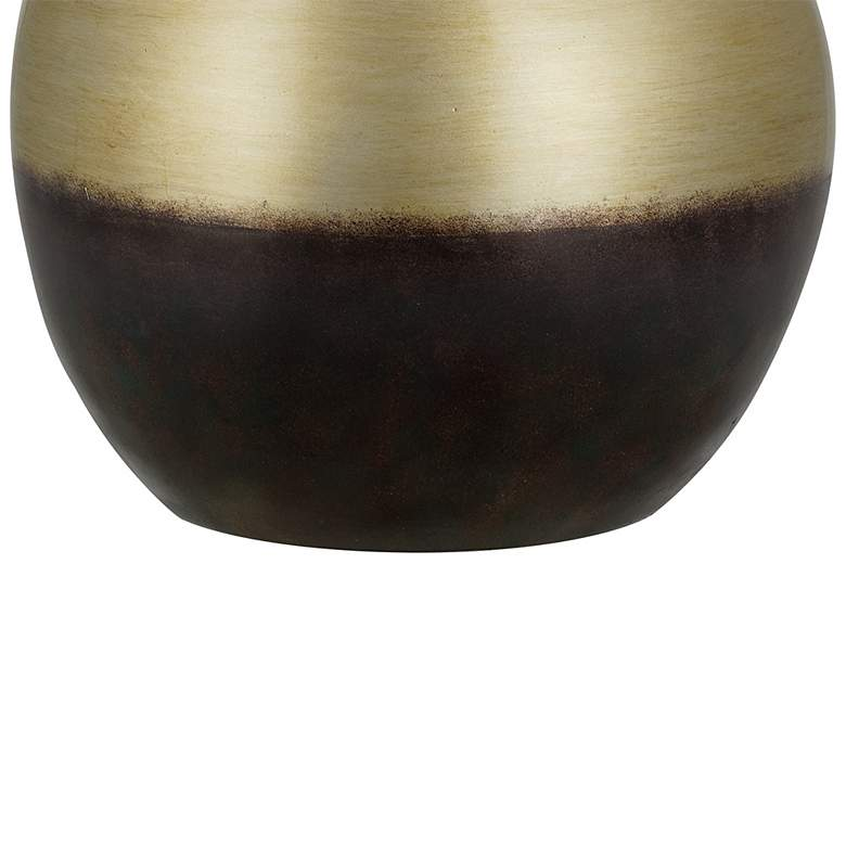 Maisie Burnished Brass Sphere LED Table Lamp more views