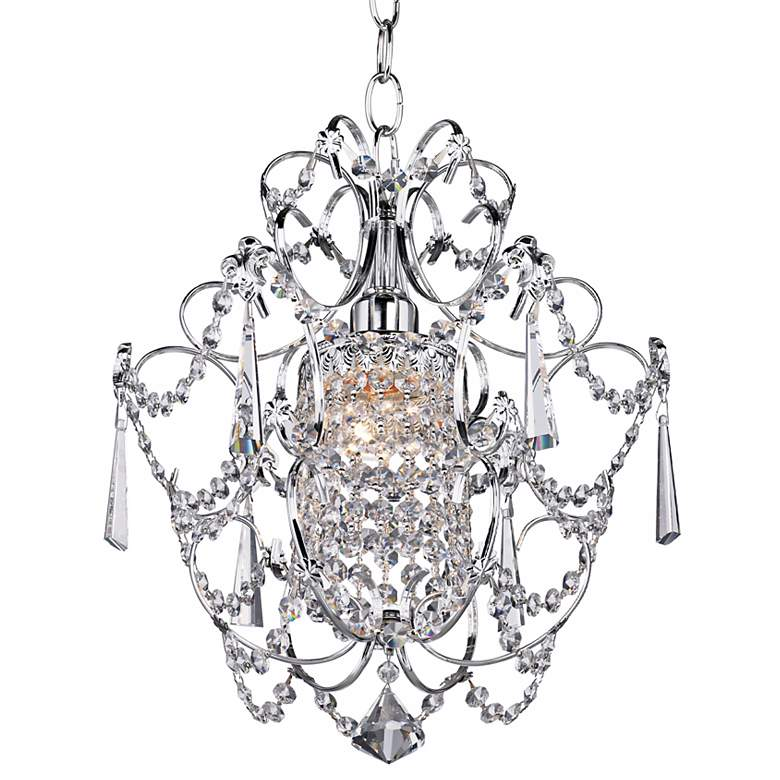"Schonbek Century 12 1/2"" Wide Silver Pendant Chandelier more views"