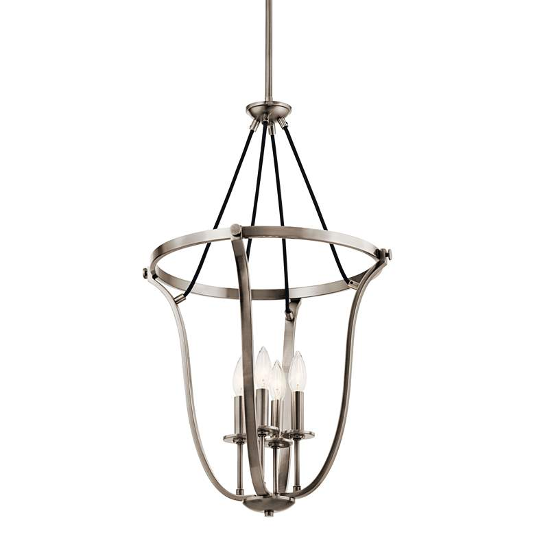 "Kichler Thisbe 17 1/2""W Classic Pewter 4-Light Foyer Pendant more views"