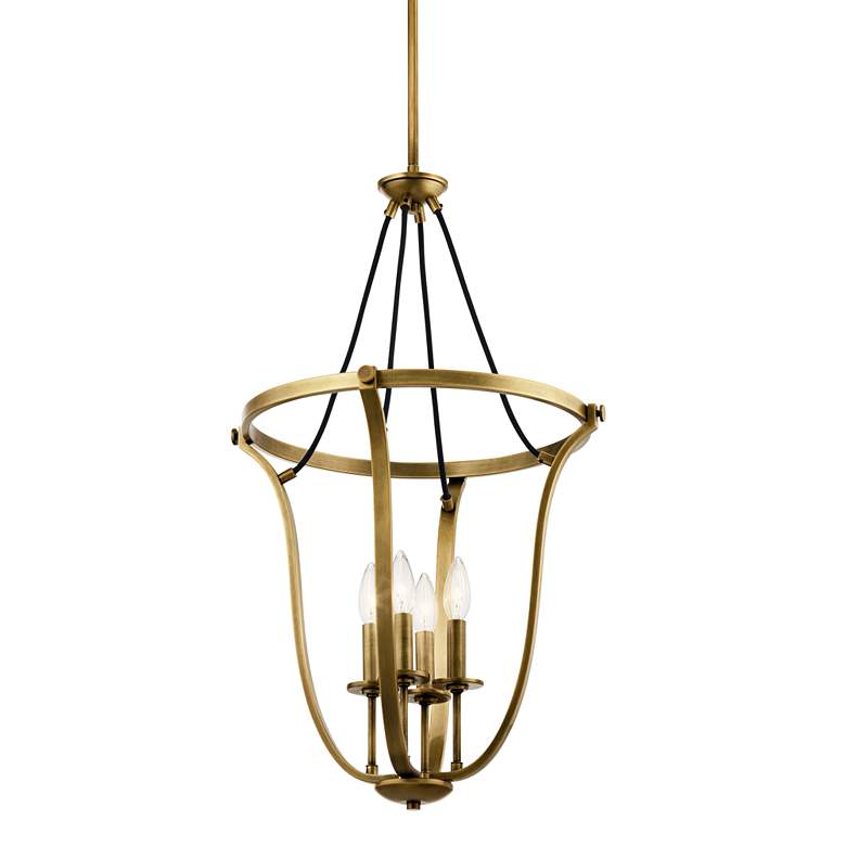 "Kichler Thisbe 17 1/2""W Natural Brass 4-Light Foyer Pendant more views"