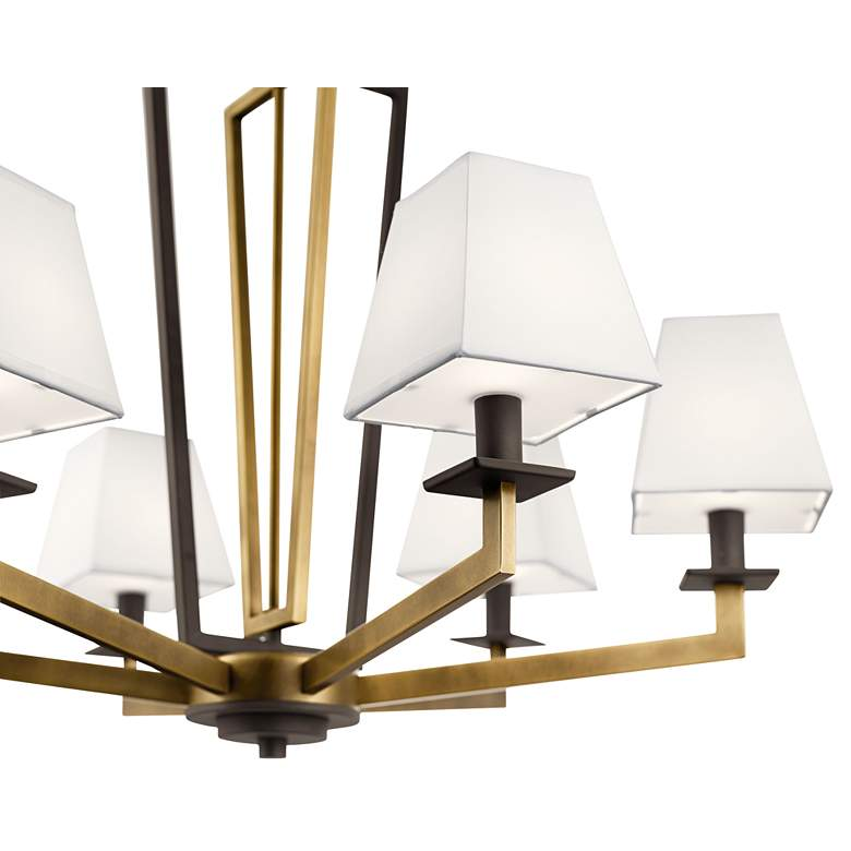 "Kichler Dancar 28"" Wide Natural Brass 6-Light Chandelier more views"