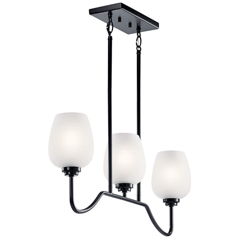 "Valserrano 31"" Wide Black Kitchen Island Light Chandelier more views"