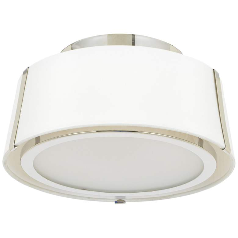 "Crystorama Fulton 12"" Wide Polished Nickel Ceiling Light more views"