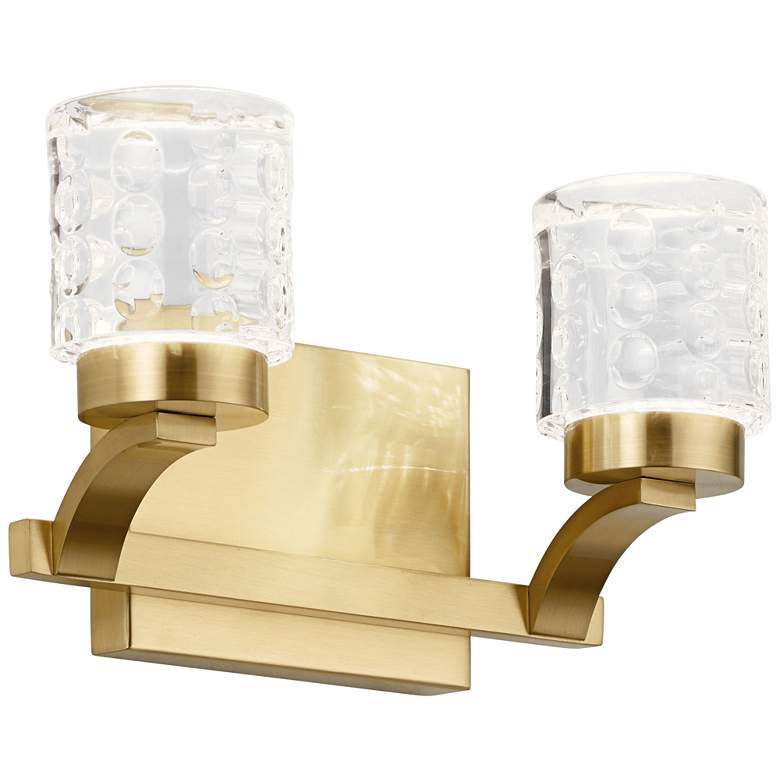 "Elan Rene 7"" High Champagne Gold 2-Light LED Wall Sconce more views"