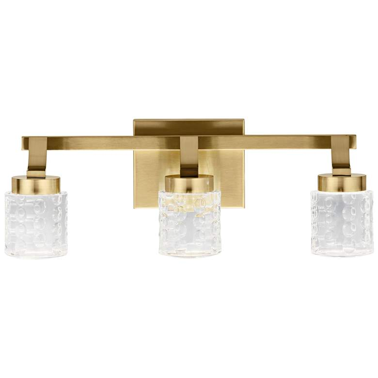 "Elan Rene 19 1/4"" Wide Champagne Gold 3-Light LED Bath Light more views"