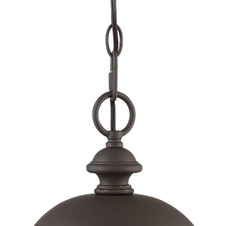 "Park Sienna 20""H Bronze Hammered Glass Outdoor Hanging Light more views"