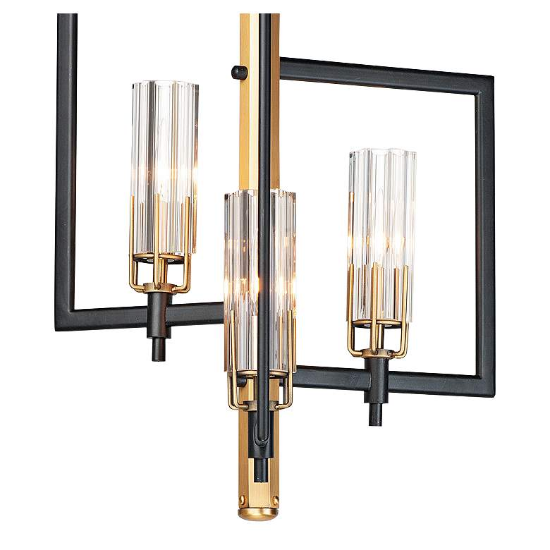 "Flambeau 12 3/4"" Wide Black Antique Brass 3-Light Pendant more views"