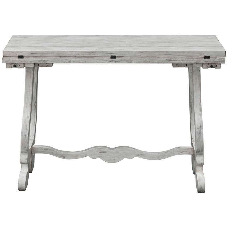 "Orchard Park 48"" Wide White Wood Fold Out Console Table more views"